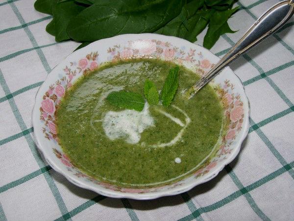 Суп-пюре с мятой